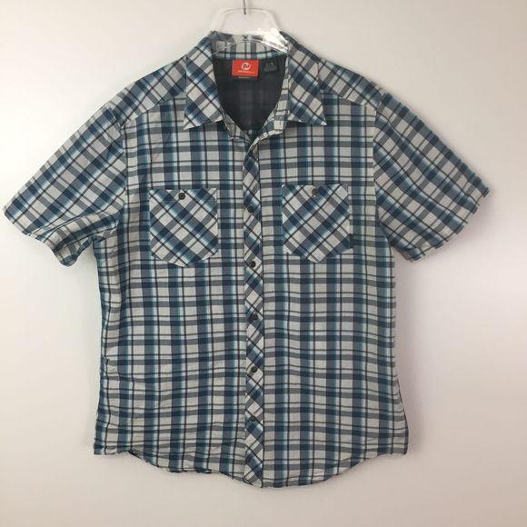 Merrell Other - Merrell Spyker Short Sleeve Button Up Shirt Sz. L